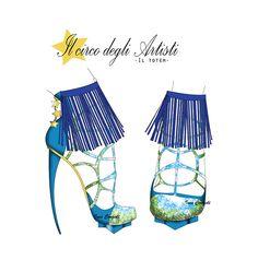 "inspired: ""Cirque Du Soleil""  ""Totem"" by Ines Congedi http://inescongedi.tumblr.com"