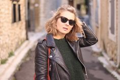 Biker Jacket & Ray Ban Sunnies