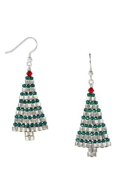Jewelry Design - Earrings with Seed Beads and Swarovski Crystal - Fire Mountain Gems and Beads