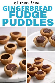 All the warm spices and a touch of molasses make these gingerbread gluten free fudge puddles a fun twist on a classic cookie cup. Best Gluten Free Desserts, Gluten Free Recipes For Kids, Homemade Desserts, Gluten Free Cookies, Easy Cake Recipes, Delicious Desserts, Dessert Recipes, Yummy Food, Gluten Free Gingerbread