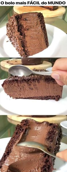 These are delicious 😋 Sweet Recipes, Cake Recipes, Dessert Recipes, Good Food, Yummy Food, Chocolate Recipes, Cake Chocolate, Chocolate Cheese, Sweet Treats
