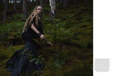 'Some Enchanted Evening.' Josephine Skriver in Ralph Lauren photographed by Yelena Yemchuk for Harper's Bazaar UK, December 2012.