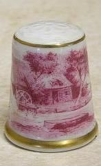 Country Scene Thimble Kaiser Germany TCC   eBay Finger, Vintage Scissors, Wooden Spools, Country Scenes, Pincushions, Bone China, Vintage Sewing, Shells, Candle Holders