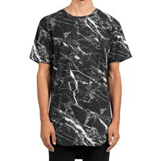 Marble Scallop Tee (black)