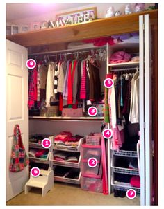I'm guessing your kid's closet doors aren't always closed!  So, messy closets = messy rooms.  Tips on organizing kids closet clutter.  #organizing #kidsclosets #loobalee