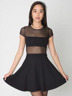 The Fiona Ponte Skater Dress. #AmericanApparel #black