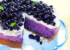 No-Bake Blueberry Cheesecake with Graham Cracker Crust - Bon Appétit
