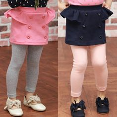 Aliexpress.com : Buy 2014 spring and autumn double breasted girls clothing child faux two piece dress trousers kz 0978 on Kids Fashion Cloth...