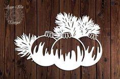 Weihnachtsdeko Weihnachten Baumschmuck Laser Paper Cut Vinyl | Etsy