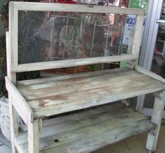 I want a potting bench made from old barn wood!