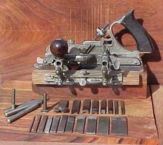 45 Combination Plane, or Traut's Patent Adjustable Woodworking Hand Planes, Antique Woodworking Tools, Antique Tools, Old Tools, Vintage Tools, Woodworking Projects, Stanley Plane, Wooden Plane, Beading Tools