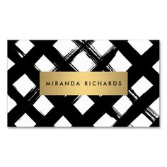 Luxe Bold Brushstrokes Business Card Pack Of Standard Business Cards