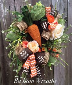 Primitive Easter Wreath Burlap Easter Wreath by BaBamWreaths