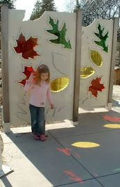 Outdoor Learning Gallery - light patterns.