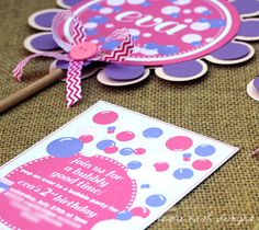 Set of 12 Pop on Over Bubble Birthday Party by leslienashdesigns, $19.80