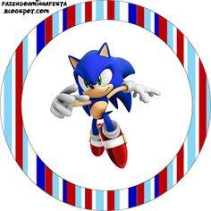 Sonic - Kit Completo com molduras para convites, rótulos para guloseimas, lembrancinhas e imagens!