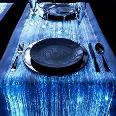 Camino de mesa de fibra optica