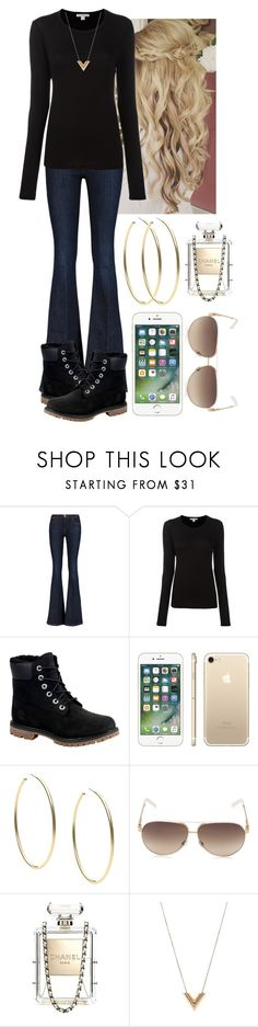 """""""Untitled #1998"""" by forever-ur-sickest-hoe ❤ liked on Polyvore featuring Frame, James Perse, Timberland, Michael Kors, Gucci, Chanel and Louis Vuitton"""