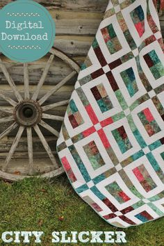 This City Slicker quilt pattern is jelly roll friendly! #quilts #affiliate #quiltpattern