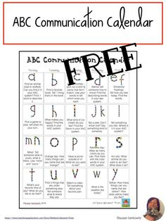Send home activity ideas for practicing language outside of school, with this free communication calendar that provides an activity, tip, or question for each day, from a to z. Speech Therapy Activities, Language Activities, Home Activities, Communication Development, Language Development, Speech And Language, Speech Language Therapy, Describing Words, Special Needs Students
