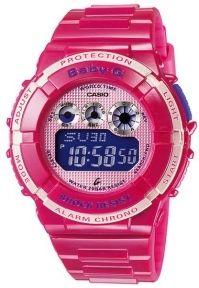 Pink Casio watch.