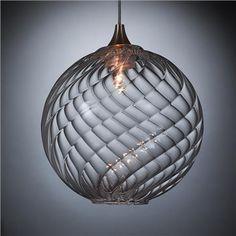 Globe Blown Glass Pendant Light, $410 on www.artisancraftedlighting.com