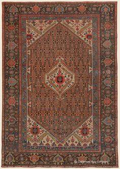 Antique West Central Persian Malayer Camelhair room size rug offers an deeply memorable use of color Antique Rug - Claremont Rug Company Persian Carpet, Persian Rug, Room Size Rugs, Asian Rugs, Rug Company, Tribal Rug, Rugs On Carpet, Bohemian Rug, 19th Century