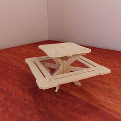 Great Barbie doll picnic table plans. Pattern vector model for CNC router and laser cutting. Plywood 3mm/4mm/5mm/6mm. Wooden homemade picnic table. 1:6 scale.