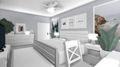 Gray And Sage Green Bedroom Blue Sage Green Bedroom Walls - Vacation dream house - Home House Rooms, Luxury House Plans, Home Building Design, Green Bedroom Walls, House Layouts, Modern House Floor Plans, Modern Family House, Aesthetic Bedroom, Tiny House Bedroom