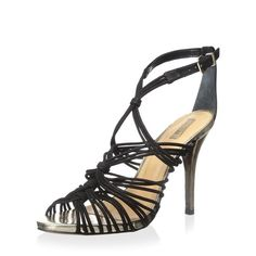 "JUST IN! SCHUTZ Strappy Sandal Pumps Gorgeous SCHUTZ Dyvyna Sandal. Brand new in box. Genuine black high quality leather, made in Brazil. Metallic wrapped heel. Open toe. 4"" heel. *Available soon. Like to be notified when they arrive. Size 9.5 only. ❌ NO TRADES ❌ NO LOWBALLING ❌ SCHUTZ Shoes Sandals"