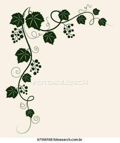 Illustration of Beautiful grape vine.