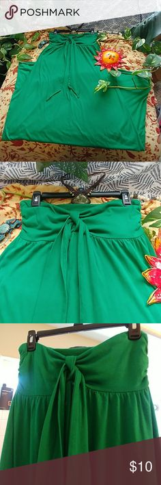 Earth day green sundress Earth day green sundress size small strapless has little built in bra shelf Old Navy Dresses Maxi