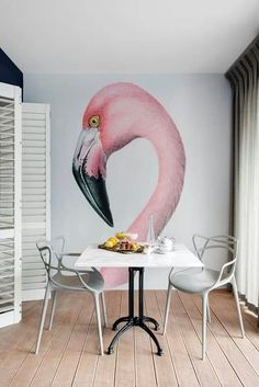 Flamingo wall …