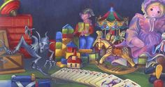 """A scene from """"The Steadfast Tin Soldier"""". By Susan Webber"""