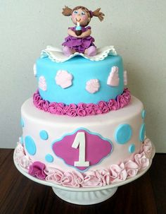 First Birthday Cake - by agi @ CakesDecor.com - cake decorating website
