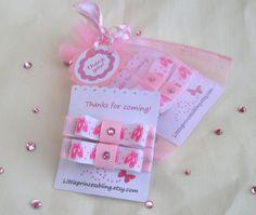 girls birthday party favors, ballet, dance, 10 sets,pink, ballerina, dancer. $25.00, via Etsy.