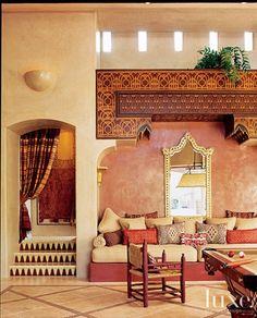 marokkaische lampen bunte farben im orientalischen haus interieur design ideen orange braun rot erdtne exotisch - Home Interior Designideen Fr Kleines Haus