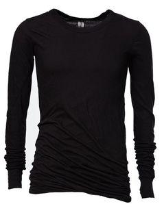 RICK OWENS Draped T-Shirt. #rickowens #cloth #t-shirt