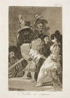 """Francisco de Goya: """"Nadie se conoce"""". Serie """"Los caprichos"""" [6]. Etching and aquatint on paper, 214 x 152 mm, 1797-99. Museo Nacional del Prado, Madrid, Spain"""