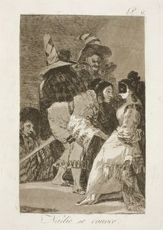 "Francisco de Goya: ""Nadie se conoce"". Serie ""Los caprichos"" [6]. Etching and aquatint on paper, 214 x 152 mm, 1797-99. Museo Nacional del Prado, Madrid, Spain"