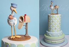 Stork cake for baby shower by Rouvelee's Creations, image by Arnaldo Ilagan.
