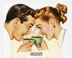 Nescafè advetising 1950 - Pubblicità Nescafè 1950