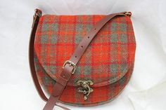 Harris Tweed Saddle Bag in a gorgeous orange and by Ten10Creations, £89.00