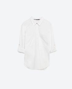 Image 8 of STRETCH POPLIN SHIRT from Zara
