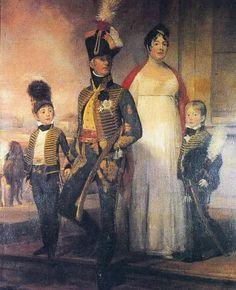 3º Marquês de Alorna, D. Pedro José de Almeida Portugal e sua família, por Domenico Pellegrini.