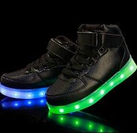 (Present:kleines Handtuch)Weiß EU 41, USB Top Color Sneakers Sport High Sneakers JUNGLEST® Changing 7 Charging Shoes Luminous Casual LED-Licht Cou