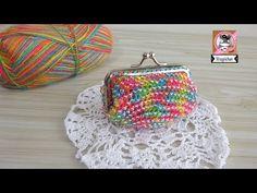 Monedero de colores con cuentas transparentes - YouTube