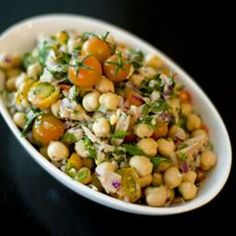 Tuna and Chickpea Salad on BigOven: Super quick and easy!