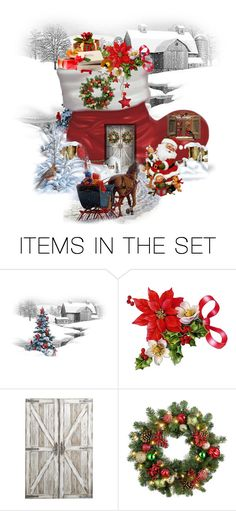 """Santa's Workshop"" by terry-tlc ❤ liked on Polyvore featuring art, artset, polyvoreeditorial and artexpression"