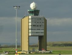 Budapest airport control tower